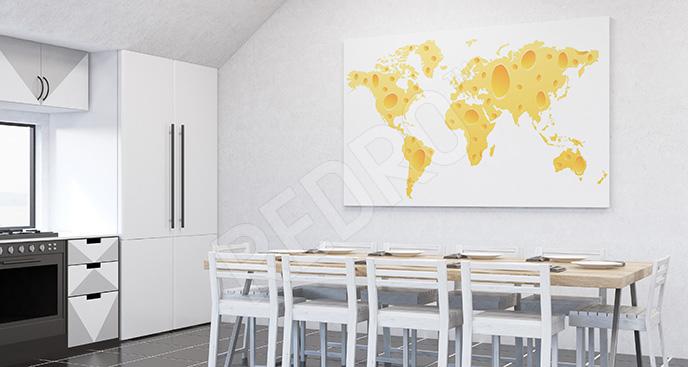 Obraz mapa z sera