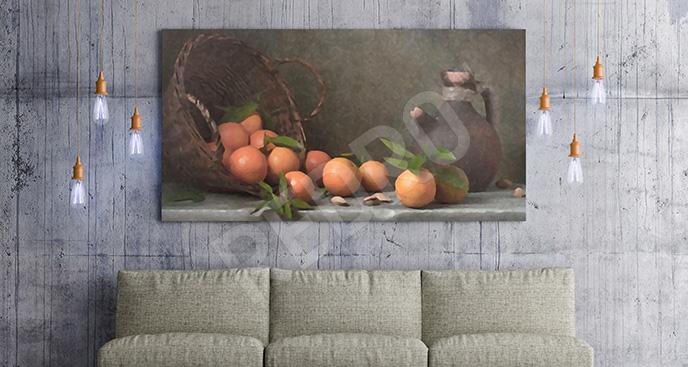 Obraz martwa natura - kosz owoców