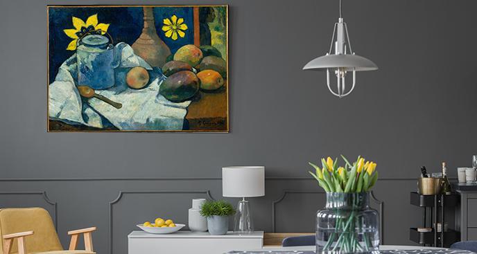 Obraz Martwa natura z czajnikiem i owocami