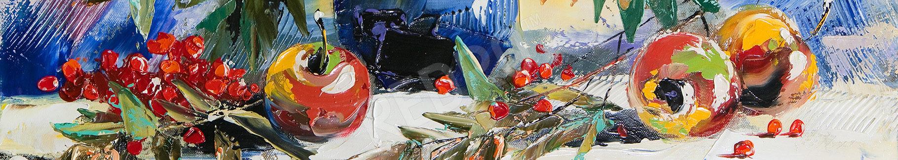 Obraz martwa natura z jarzębiną