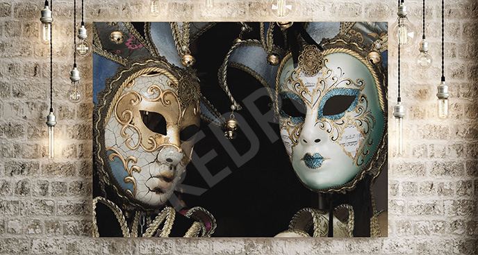 Obraz maski weneckie