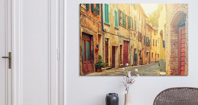 Obraz miasteczko we Włoszech