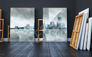 Obraz miasto futurystyczne