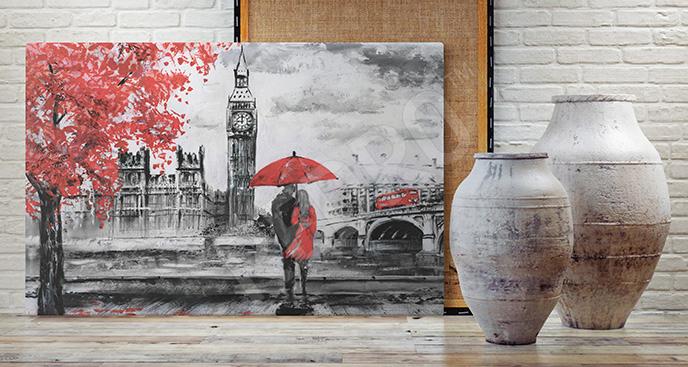 Obraz miasto Londyn jesienią