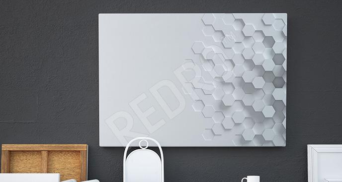 Obraz minimalistyczny z efektem 3D
