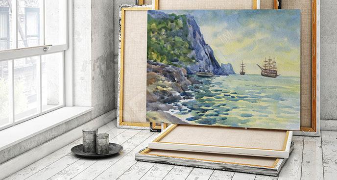 Obraz morze akwarela