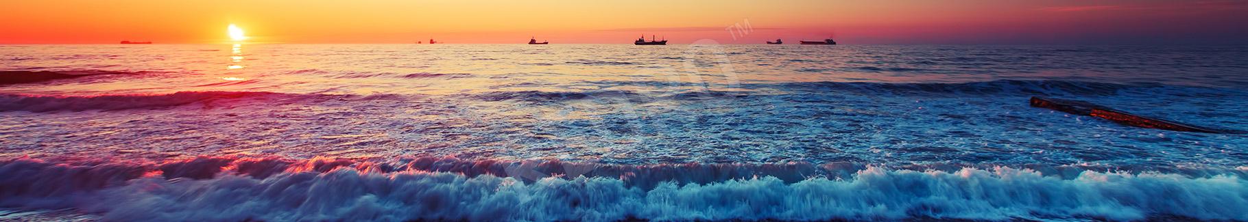 Obraz morze o zachodzie słońca