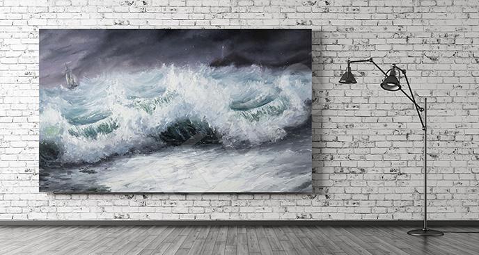 Obraz morze podczas sztormu