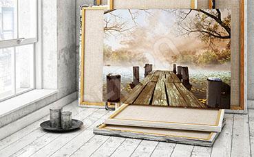 Obraz most drewniany