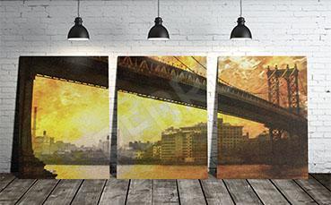 Obraz most i miasto
