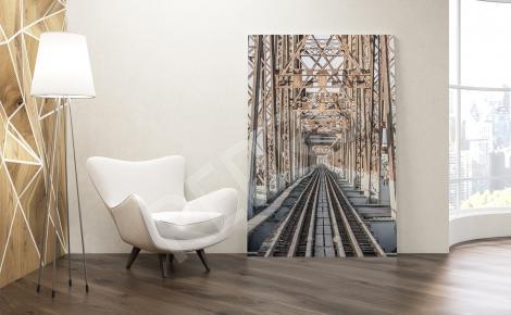 Obraz most kolejowy 3d