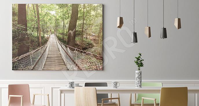 Obraz most linowy do jadalni