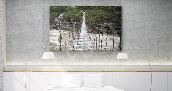 Obraz most linowy w Nowej Gwinei