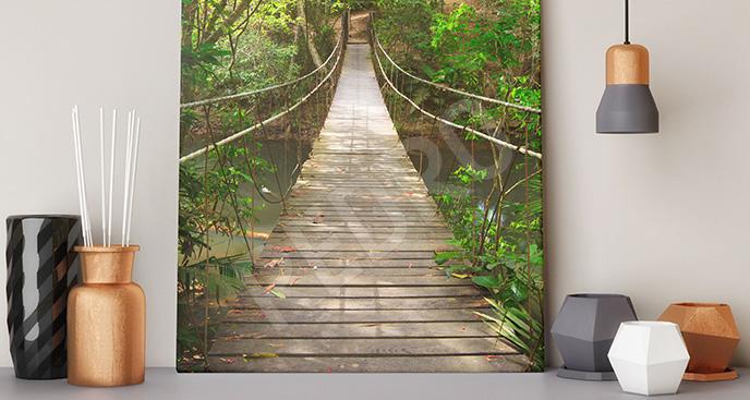 Obraz most linowy w Tajlandii