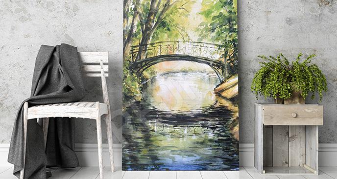 Obraz most nad wodą