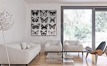 Obraz motyle czarno-białe
