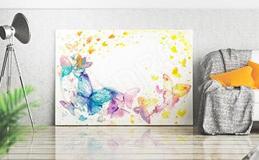 Obraz motyle malowane akwarelą