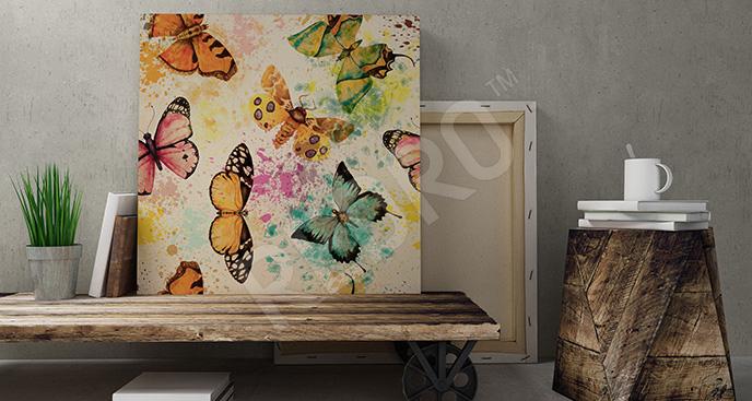 Obraz motyle w stylu vintage