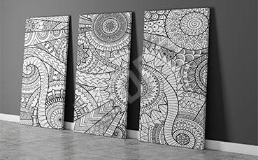Obraz abstrakcyjny motyw czarno-biały