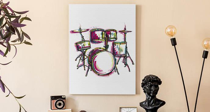 Obraz muzyczny z perkusją