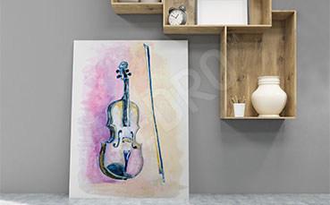 Obraz muzyczny ze skrzypcami