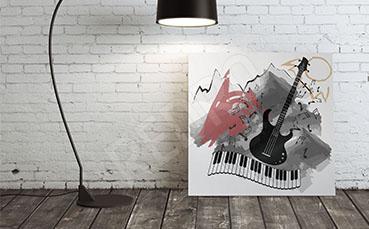Obraz muzyka do pokoju nastolatka