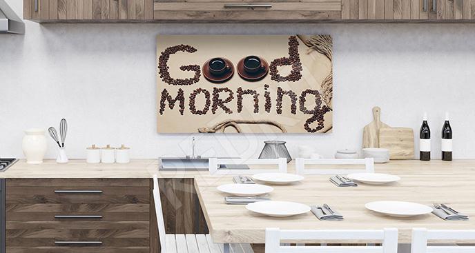Obraz napisy i kawa