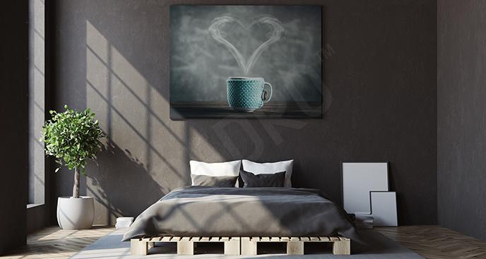 Obraz napój i serce