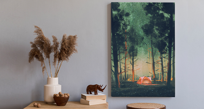 Obraz naturalny krajobraz leśny