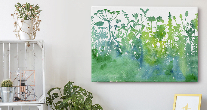 Obraz natura w akwareli