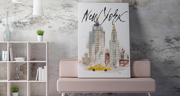 Obraz Nowy Jork akwarela