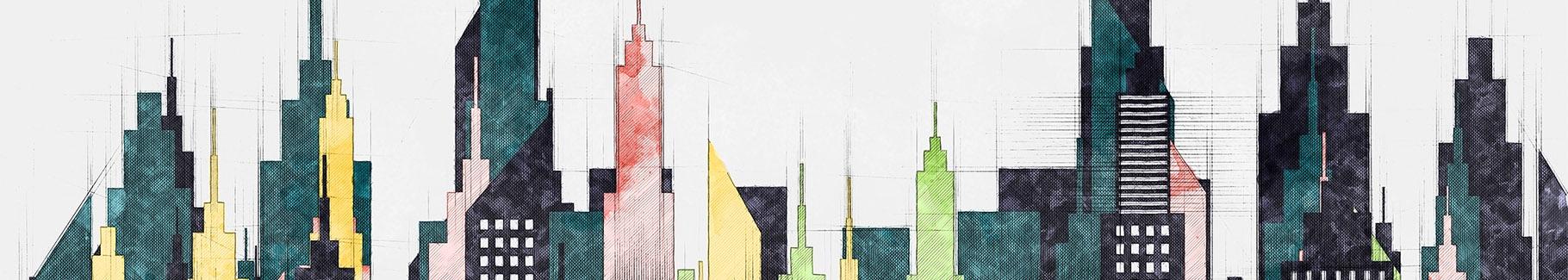 Obraz wieżowce Nowego Jorku