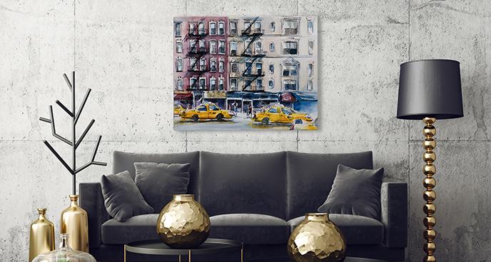 Obraz Nowy Jork: taksówki