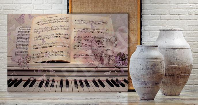 Obraz nuty i pianino