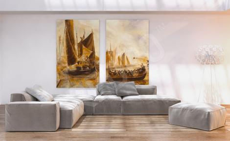 Obraz okręty na morzu