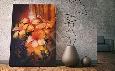 Obraz olejny kwiaty