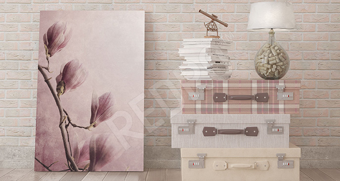 Obraz pąki kwiatów