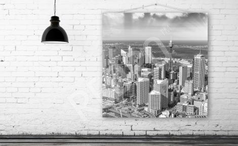 Obraz panorama Sydney czarno-biała