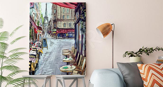 Obraz paryskie kafeki