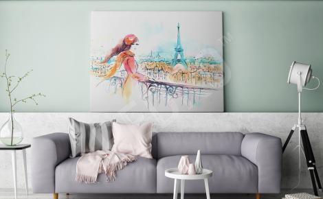 Obraz Paryż akwarela