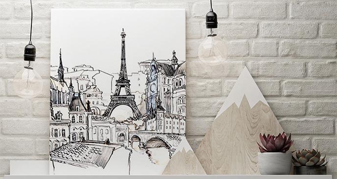 Obraz Paryż czarno-biały