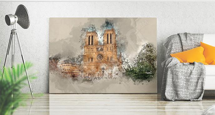 Obraz Paryż z katedrą Notre Dame