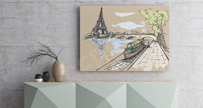 Obraz Paryża do salonu