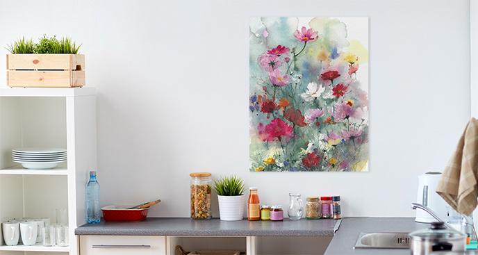 Obraz pastelowe kwiaty