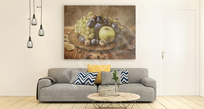 Obraz patera z owocami