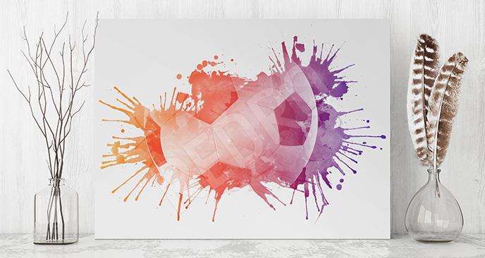 Obraz piłka nożna kolory