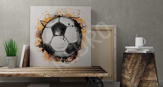 Obraz piłka nożna rysunek