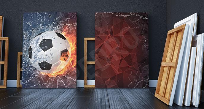 Obraz piłkarski abstrakcja