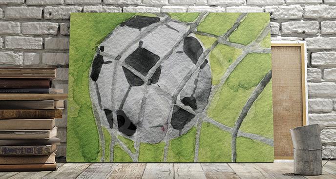 Obraz piłkarski akwarela