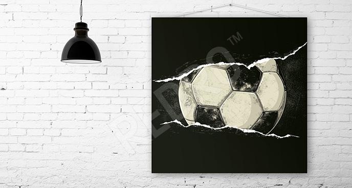 Obraz piłkarski dla nastolatka